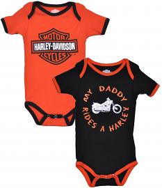 Harley-Davidson® Boys' 2-Pc Creeper Set | My Daddy Rides a Harley