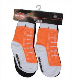 Harley-Davidson® Boys' Non-Skid Socks 3-Pack | Shoe-Look-Alike