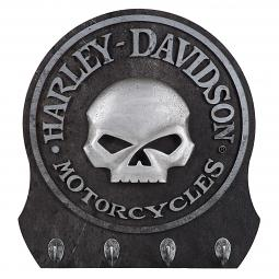Harley-Davidson® 3-D Willie G® Skull Wall 4-Hook Key Rack
