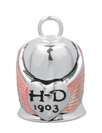 Harley-Davidson® Winged Heart Ride Bell | Pink Wing Accents