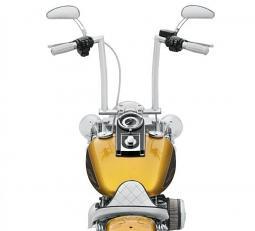 Harley-Davidson® Fat Chizeled Handlebar - Chrome