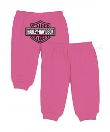 Harley-Davidson® Girls' Pink Knit Fleece Pants | Bar & Shield Logo