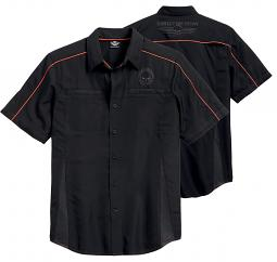 Harley-Davidson® Men's Black Vented Performance Shirt