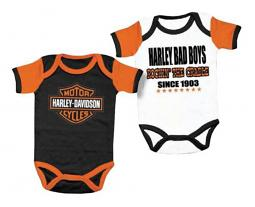 Harley-Davidson® 2-Pc Creeper Set | Bar & Shield and Bad Boys Rockin' the Cradle